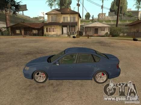 Subaru Legacy 3.0 R for GTA San Andreas left view
