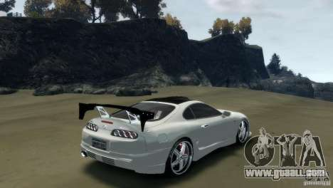 TOYOTA SUPRA TUNING for GTA 4 left view