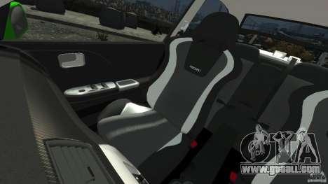 Mitsubishi Lancer Evo IX Tuning for GTA 4 upper view