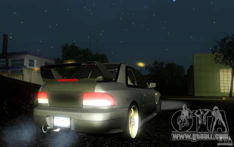 Subaru Impreza 22B for GTA San Andreas back left view
