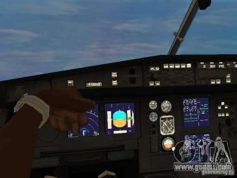 Airbus A340-300 Air Canada for GTA San Andreas back view