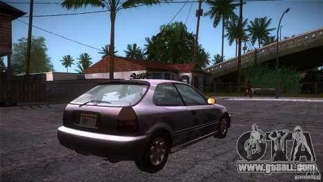 Honda Civic Tuneable for GTA San Andreas right view