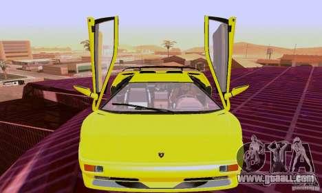 Lamborghini Diablo SV 1997 for GTA San Andreas left view