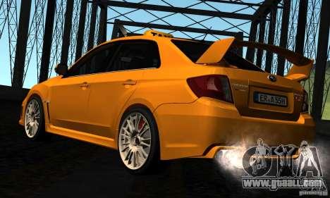 Subaru Impreza WRX STi 2011 TAXI for GTA San Andreas right view