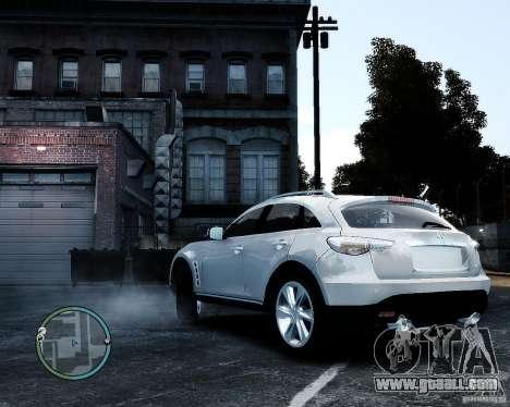 Infiniti FX50 for GTA 4 left view