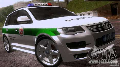Volkswagen Touareg Policija for GTA San Andreas upper view