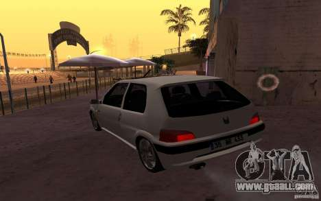 Peugeot 106 GTi for GTA San Andreas back left view