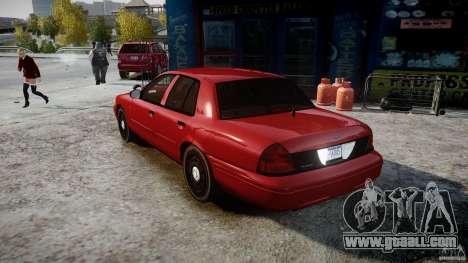Ford Crown Victoria Detective v4.7 red lights for GTA 4 back left view