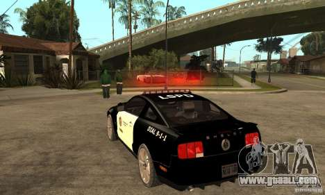 Shelby GT500KR Edition POLICE for GTA San Andreas back left view