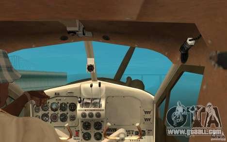 De Havilliand Beaver DHC2 for GTA San Andreas inner view