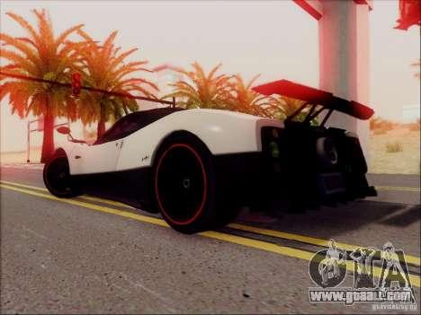 Pagani Zonda Cinque for GTA San Andreas right view