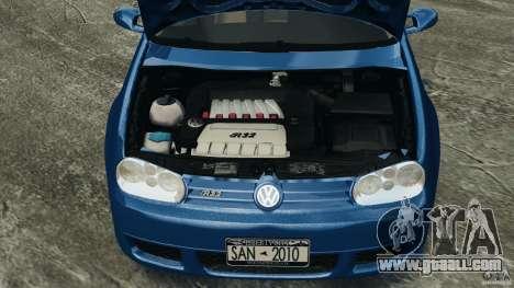 Volkswagen Golf 4 R32 2001 v1.0 for GTA 4 inner view