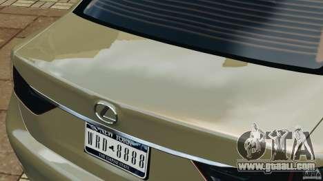 Lexus GS350 2013 v1.0 for GTA 4 interior