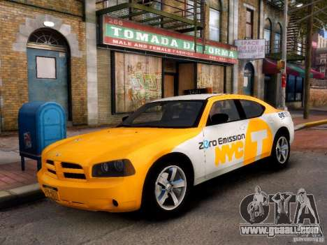 Dodge Charger NYC Taxi V.1.8 for GTA 4 left view