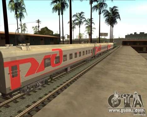 Passenger car RZD for GTA San Andreas