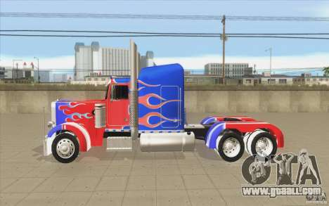 Peterbilt 379 Optimus Prime for GTA San Andreas left view