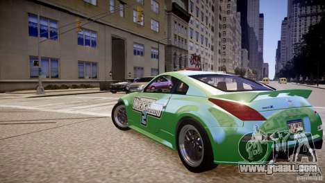 Nissan 350Z Underground 2 Style for GTA 4 back left view