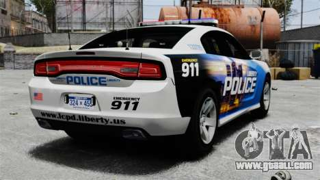 Dodge Charger 2013 Police Code 3 RX2700 v1.1 ELS for GTA 4 back left view