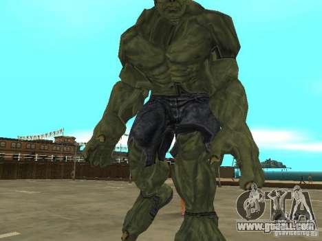 Hulk Skin for GTA San Andreas third screenshot