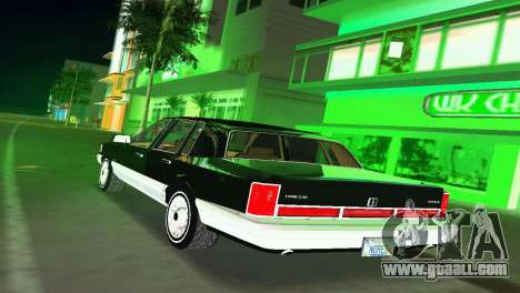 Lincoln Town Car 1997 for GTA Vice City back left view