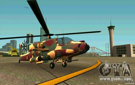 Hunter Armee Look for GTA San Andreas left view