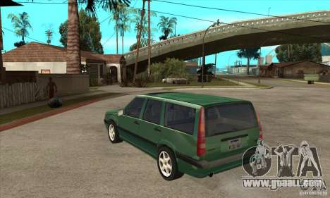 Volvo 850 GLT for GTA San Andreas back left view