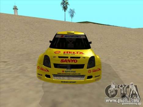 Suzuki Rally Car for GTA San Andreas back view