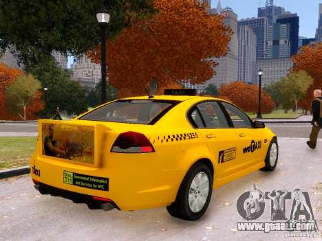 Holden NYC Taxi V.3.0 for GTA 4 left view