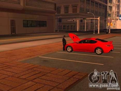 Hyundai Genesis Coupé 3.8 Track v1.0 for GTA San Andreas bottom view