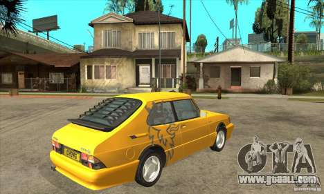 Saab 900 Turbo 1989 v.1.2 for GTA San Andreas back view