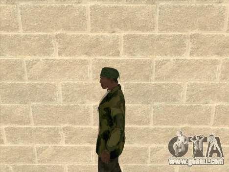Camouflage jacket for GTA San Andreas third screenshot