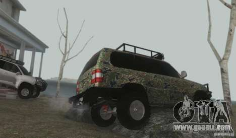 Toyota Land Cruiser 100 Off Road for GTA San Andreas inner view