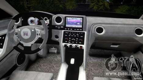 Nissan GTR R35 v1.0 for GTA 4 upper view