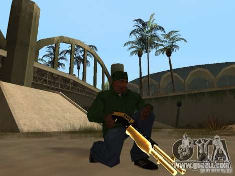 Pak Golden weapons for GTA San Andreas sixth screenshot