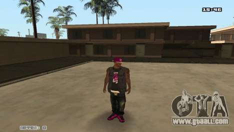 Ballas Skin Pack for GTA San Andreas third screenshot