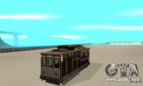 Tram for GTA San Andreas left view