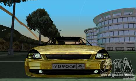 Lada Priora Gold for GTA San Andreas back left view