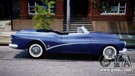 Buick Skylark Convertible 1953 v1.0 for GTA 4 upper view