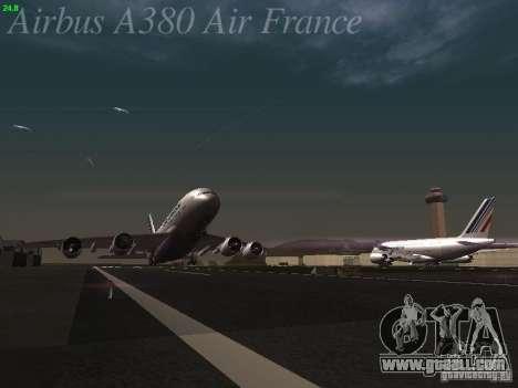 Airbus A380-800 Air France for GTA San Andreas upper view