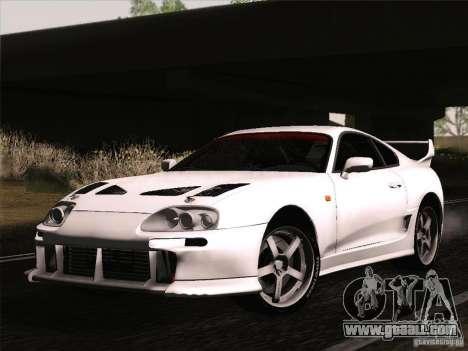 Toyota Supra TRD3000GT v2 for GTA San Andreas inner view