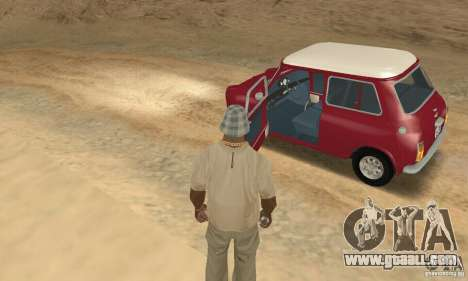 Mini Cooper S for GTA San Andreas back view