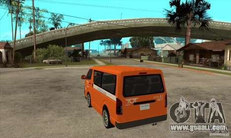 Toyota Hiace for GTA San Andreas back view