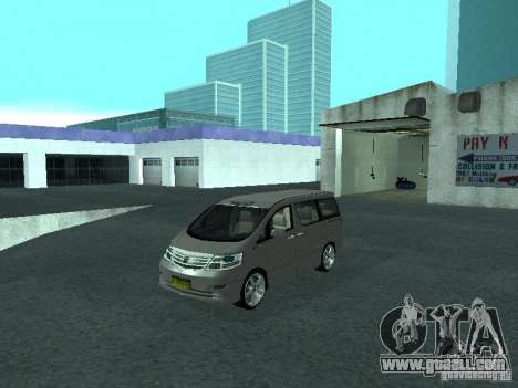 Toyota Alphard G Premium Taxi indonesia for GTA San Andreas