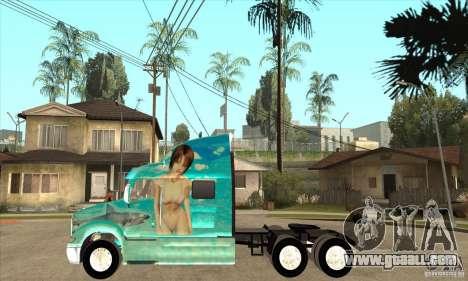 Peterbilt 387 skin 4 for GTA San Andreas left view