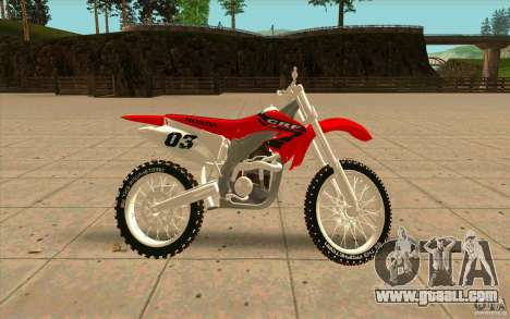 Honda CRF450R Extreme Edition FINAL for GTA San Andreas left view