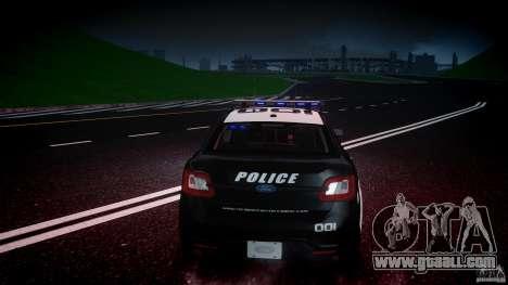 Ford Taurus Police Interceptor 2011 [ELS] for GTA 4 engine