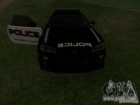 Nissan Skyline R34 Police for GTA San Andreas side view