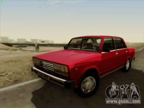 Lada 2105 RIVA (export) 2.0 for GTA San Andreas back left view