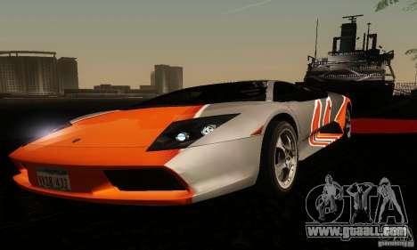 Lamborghini Murcielago for GTA San Andreas inner view