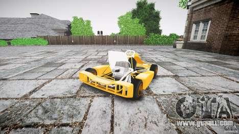 Karting for GTA 4 back left view